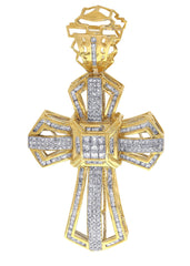 Diamond Cross Pendant| 3.05 Carats| 22.98 Grams