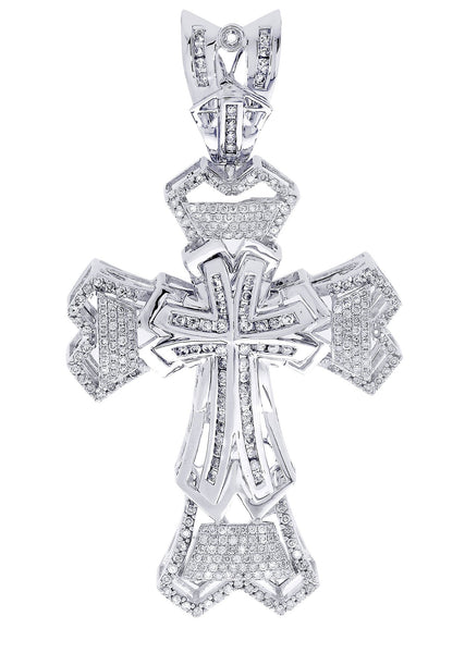Diamond Cross Pendant| 2.28 Carats| 21.68 Grams