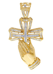 Diamond Cross Pendant| 2.65 Carats| 29.58 Grams