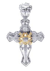 Diamond Cross Pendant| 3.15 Carats| 26.44 Grams
