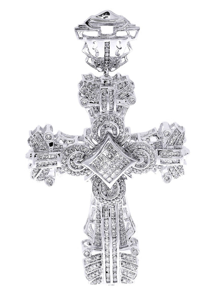 Diamond Cross Pendant| 2.08 Carats| 22.92 Grams