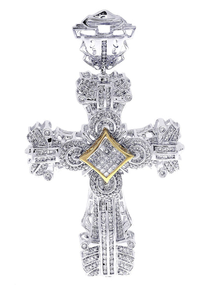 Diamond Cross Pendant| 2.07 Carats| 23.5 Grams
