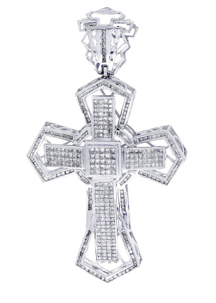 Diamond Cross Pendant| 4.1 Carats| 22.95 Grams