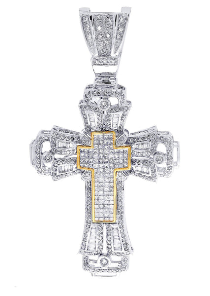 Diamond Cross Pendant| 4.43 Carats| 22 Grams