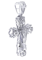 Diamond Cross Pendant| 1.98 Carats| 24.56 Grams