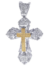 Diamond Cross Pendant| 1.72 Carats| 30.68 Grams