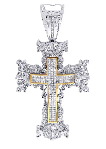 Diamond Cross Pendant| 4.1 Carats| 32.77 Grams