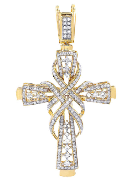 Diamond Cross Pendant| 2.33 Carats| 14.34 Grams
