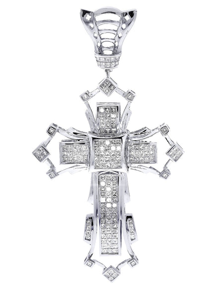 Diamond Cross Pendant| 3.74 Carats| 22.88 Grams