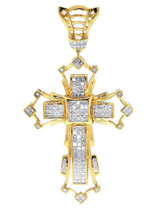 Diamond Cross Pendant| 3.99 Carats| 22.18 Grams