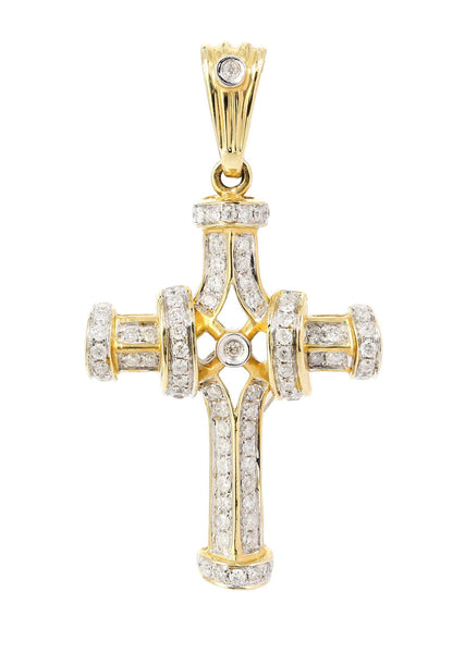 Diamond Cross Pendant |0.45 Carats | 3.45 Grams