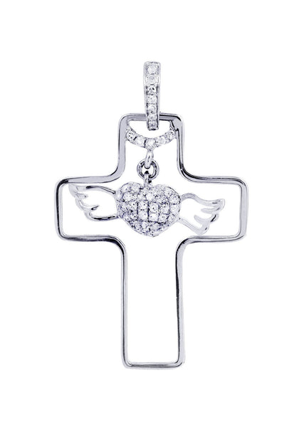 Diamond Cross Pendant | 0.24 Carats | 2.13 Grams