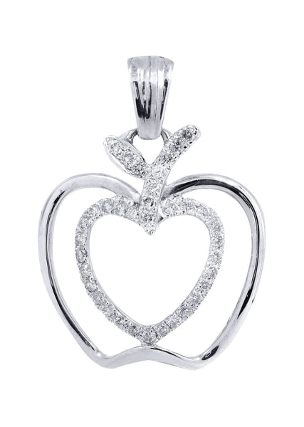 Diamond Apple Pendant | 0.38 Carats | 2.07 Grams