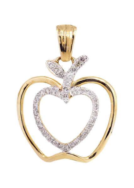Diamond Apple Pendant | 0.38 Carats | 2.04 Grams