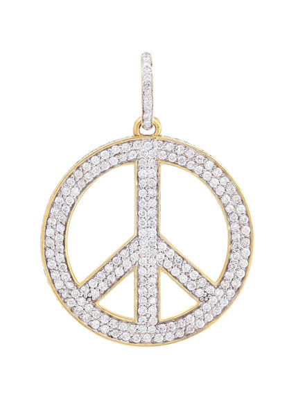 Diamond Peace Pendant | 2.51 Carats | 16.64 Grams