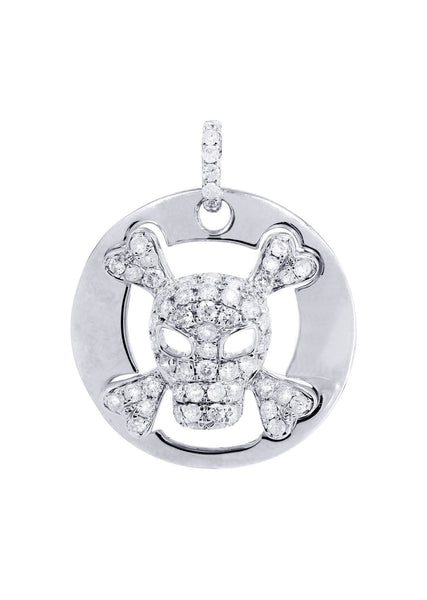 Diamond Skull Pendant | 0.61 Carats | 3.24 Grams