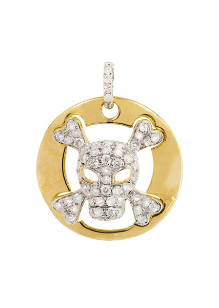 Diamond Skull Pendant | 0.62 Carats | 3.18 Grams