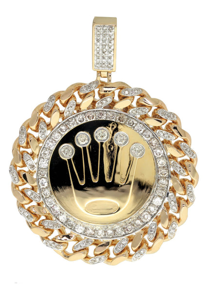 Diamond Crown Pendant | 3.9 Carats| 47.66 Grams