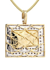 10K Yellow Gold Last Supper Diamond Pendant & Franco Chain | 0.43 Carats Diamond Combo FROST NYC