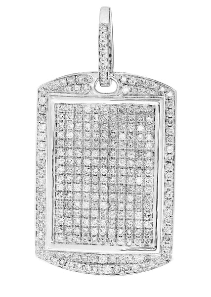 Diamond Dog Tag Pendant | 20.72 Grams | 6.3 Carats