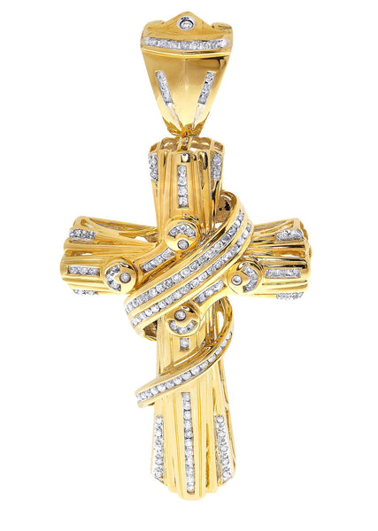 Diamond Cross Pendant| 1.62 Carats| 29.77 Grams
