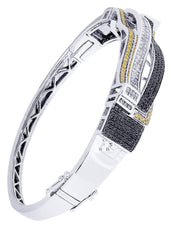 Mens Diamond Bracelet White Gold| 2.97 Carats| 33.4 Grams
