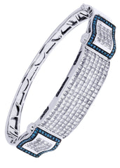Mens Diamond Bracelet White Gold| 6.96 Carats| 36.14 Grams Men's Diamond Bracelets FROST NYC