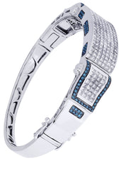 Mens Diamond Bracelet White Gold| 6.96 Carats| 36.14 Grams