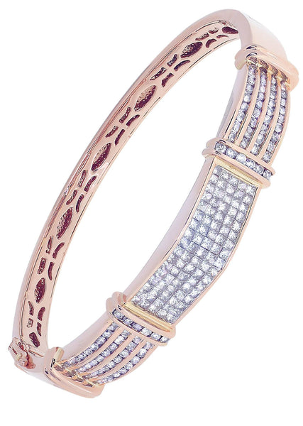 Mens Diamond Bracelet Rose Gold| 4.11 Carats| 39.69 Grams