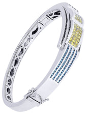 Mens Diamond Bracelet White Gold| 3.74 Carats| 41.51 Grams Men's Diamond Bracelets FROST NYC
