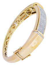 Mens Diamond Bracelet Yellow Gold| 2.97 Carats| 38.85 Grams
