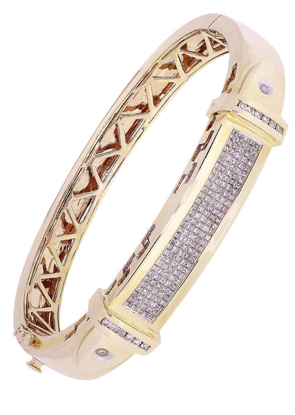 Mens Diamond Bracelet Yellow Gold| 1.95 Carats| 46.44 Grams