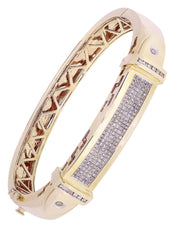 Mens Diamond Bracelet Yellow Gold| 1.95 Carats| 46.44 Grams Men's Diamond Bracelets FROST NYC
