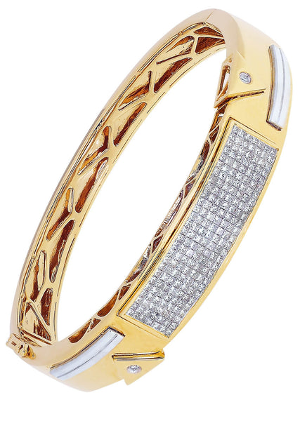 Mens Diamond Bracelet Yellow Gold| 2.36 Carats| 44.34 Grams