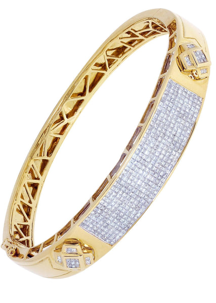 Mens Diamond Bracelet Yellow Gold| 3.71 Carats| 35.66 Grams