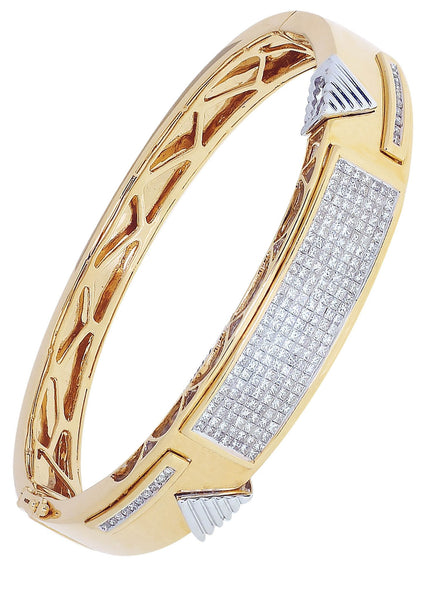Mens Diamond Bracelet Yellow Gold| 2.81 Carats| 47.66 Grams