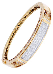 Mens Diamond Bracelet Yellow Gold| 2.68 Carats| 34.31 Grams