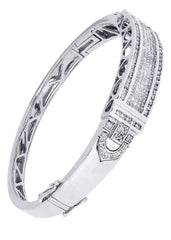 Mens Diamond Bracelet White Gold| 3.3 Carats| 34.27 Grams Men's Diamond Bracelets FROST NYC