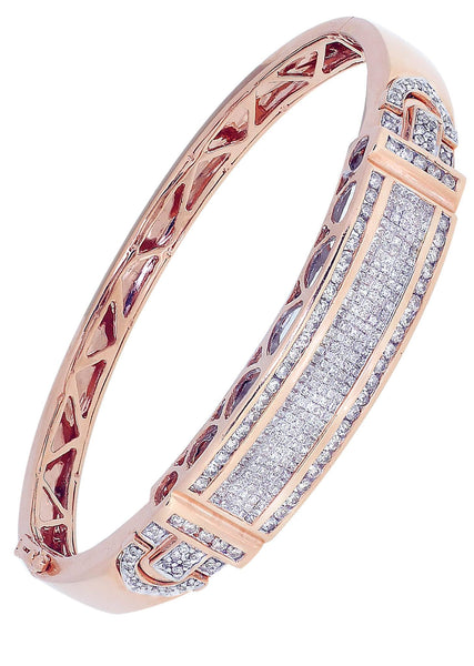 Mens Diamond Bracelet Rose Gold| 1.18 Carats| 33.62 Grams