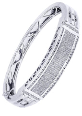 Mens Diamond Bracelet White Gold| 3.6 Carats| 47.18 Grams