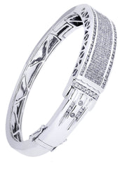 Mens Diamond Bracelet White Gold| 3.6 Carats| 47.18 Grams Men's Diamond Bracelets FROST NYC