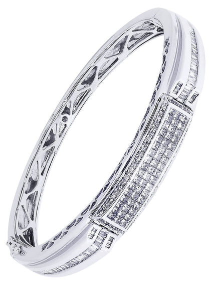 Mens Diamond Bracelet White Gold| 1.33 Carats| 37.35 Grams