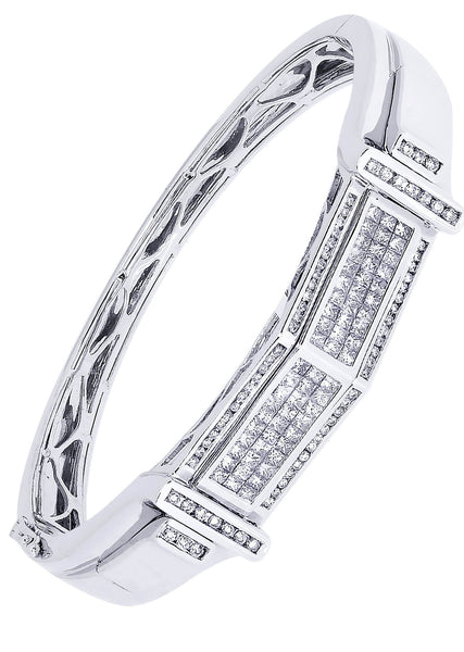 Mens Diamond Bracelet White Gold| 2.47 Carats| 41.8 Grams