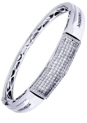 Mens Diamond Bracelet White Gold| 3.68 Carats| 34.76 Grams