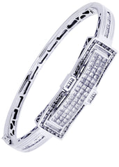 Mens Diamond Bracelet White Gold| 3.29 Carats| 30.93 Grams