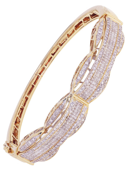 Mens Diamond Bracelet Yellow Gold| 3.47 Carats| 31.07 Grams