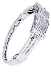 Mens Diamond Bracelet White Gold| 3.41 Carats| 42.94 Grams