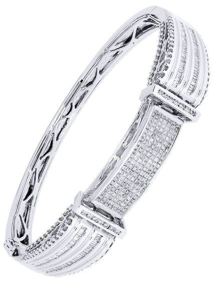 Mens Diamond Bracelet White Gold| 2.16 Carats| 34.79 Grams