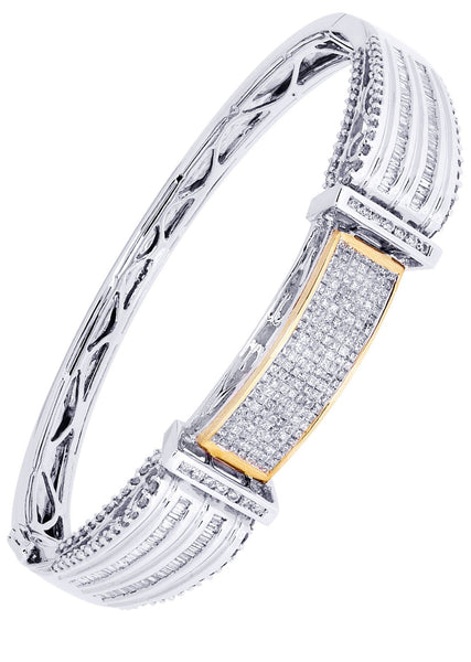 Mens Diamond Bracelet White Gold| 2.24 Carats| 34.94 Grams