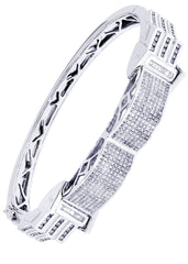 Mens Diamond Bracelet White Gold| 2.96 Carats| 39.75 Grams